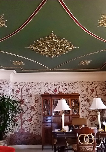 English country ornate ceiling
