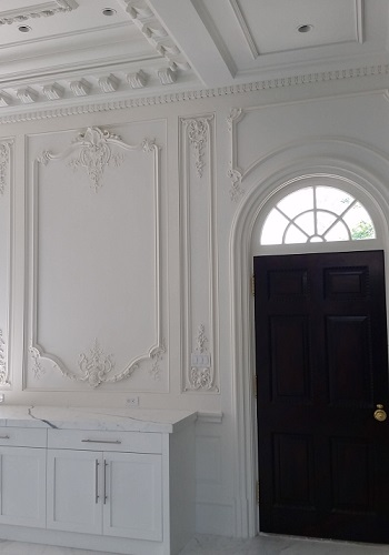 traditional wall plaster panels